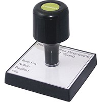 Q-Connect Voucher for Custom Rubber Stamp 75 x 35mm KF02102