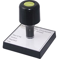 Q-Connect Voucher for Custom Rubber Stamp 90 x 55mm KF02104