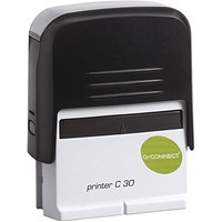 Q-Connect Voucher for Custom Self-Inking Stamp 35 x 12mm