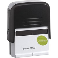 Q-Connect Voucher for Custom Self-Inking Stamp 72 x 33mm