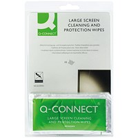 Q-Connect Large Screen/Protection Wipes (Pack of 10)