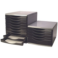 Q-Connect 5 Drawer Tower - Black & Grey