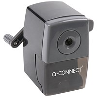 Q-Connect Desktop Pencil Sharpener Black (Autostop feature prevents over sharpening)