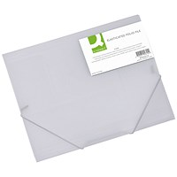 Q-Connect Elasticated Folder 3 Flap A4 Clear