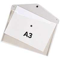 Q-Connect A3 Document Folders, Clear, Pack of 12