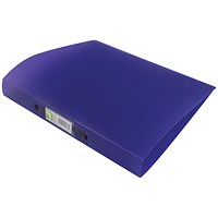 Q-Connect A4 Plastic Ring Binder, 2 O-Ring, 25mm Capacity, Frosted Purple