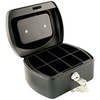 Q-Connect Cash Box 6 Inch - Black