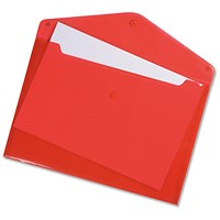 Q-Connect A4 Document Folders, Red, Pack of 12