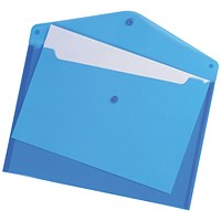 Q-Connect A4 Document Folders, Blue, Pack of 12