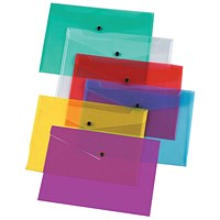 Q-Connect A4 Document Folders, Assorted, Pack of 12