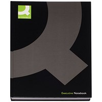 Q-Connect Casebound Hardback Book, A4, Pack of 3