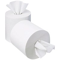 2Work Mini Centrefeed Roll, 1-Ply, Pack of 12
