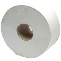 2Work 2-Ply Jumbo Toilet Roll 60mm Core (Pack of 6) J26400VW