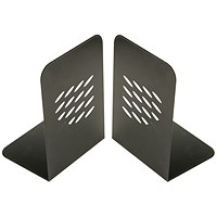 Q-Connect L-Shaped Metal Bookends - One Pair