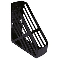 Q-Connect Magazine Rack - Black