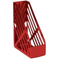 Q-Connect Magazine Rack - Red