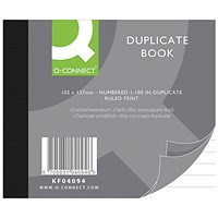Q-Connect Duplicate Book, Ruled Feint, 102x127mm