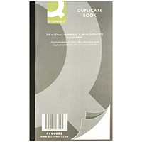Q-Connect Duplicate Book, Ruled, 210x127mm