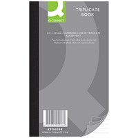 Q-Connect Triplicate Book, Ruled Feint, 210x127mm