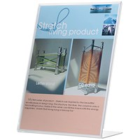 Q-Connect Slanted L-Shaped Sign Holder - A4