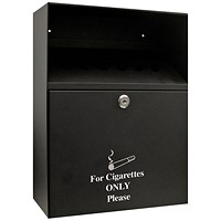 Q-Connect Ash Bin Black 7 Litre