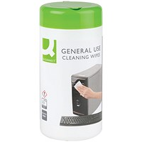 Q-Connect General Use Cleaning Wipes (Pack of 100)