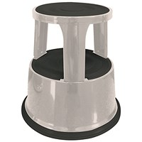 Q-Connect Metal Step Stool - Light Grey