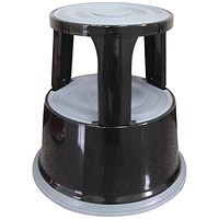 Q-Connect Metal Step Stool - Black