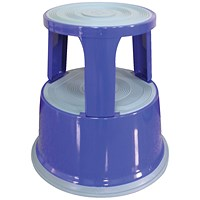Q-Connect Metal Step Stool - Blue