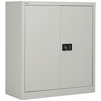 Jemini 2 Door 1000mm Stationery Cupboard Grey