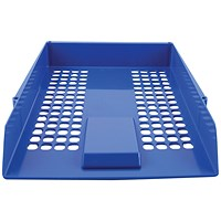 Q-Connect Plastic Letter Tray - Blue