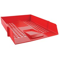 Q-Connect Plastic Letter Tray - Red