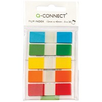 Q-Connect Page Markers 1/2 Inch Assorted (Pack of 130) KF14966