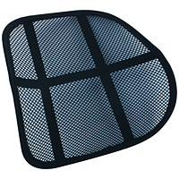 Q- Connect Mesh Back Support - Black