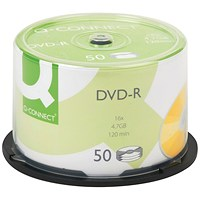 Q-Connect DVD-R 4.7GB Cake Box (Pack of 50)