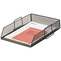 Q-Connect Stackable Letter Tray Black