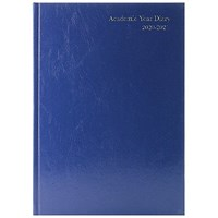 Academic Diary Day Per Page A4 Blue 2020-21 KF1A4ABU21