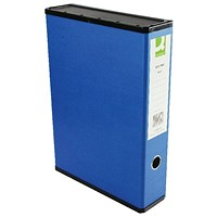 Q-Connect Box File, 75mm Spine, Foolscap, Blue, Pack of 5