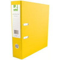 Q-Connect A4 Lever Arch Files, Plastic, Yellow, Pack of 10