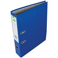 Q-Connect Foolscap Lever Arch Files, Blue, Pack of 10