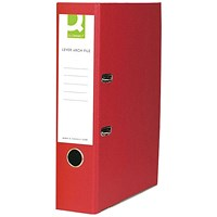 Q-Connect Paper-Backed Red Lever Arch Foolscap File