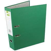 Q-Connect Foolscap Lever Arch Files, Green, Pack of 10