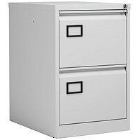 Jemini Light Grey 2 Drawer Filing Cabinet (Dimensions: W470 x D622 x H711mm) KF20042