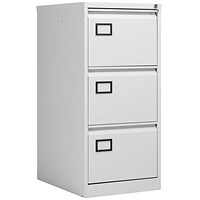 Jemini Light Grey 3 Drawer Filing Cabinet (Dimensions: W470 x D622 x H1016mm) KF20043