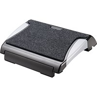 Q- Connect Foot Rest with Carpet - Black/Silver