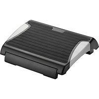 Q-Connect Foot Rest with Rubber- Black/Silver