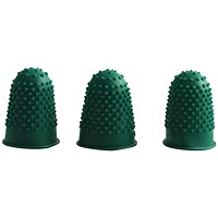 Q-Connect Thimblettes Size 0 Green (Pack of 12)