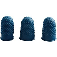 Q-Connect Thimblettes Size 1 Blue (Pack of 12)