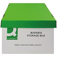 Q-Connect Business Storage Box, White, Pack of 10