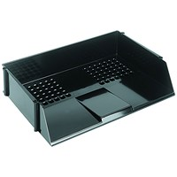 Q-Connect Wide Entry Letter Tray - Black